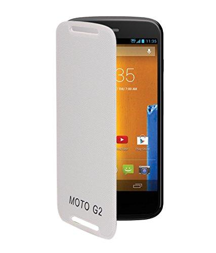 KolorEdge Flip Cover for Motorola moto G2 - White