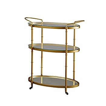 Madison Park Signature Lauren Bar Cart Antique Gold See below
