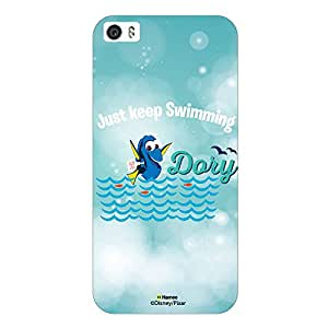 Hamee Disney Pixar Finding Dory Official Licensed Designer Cover Hard Back Case for iPhone 6 / 6s (Just Keep Swimming /white)
