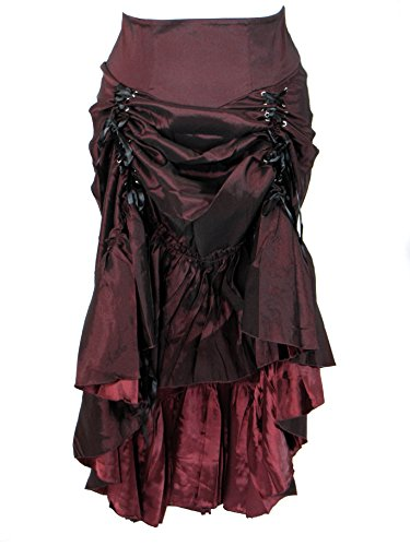 Plus-Size-Burgundy-Gothic-Steampunk-Burlesque-3-Way-Lace-Up-Skirt