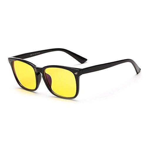 Cyxus(シクサズ)スクリーンブルーレイ止めの眼鏡  防止青色光紫外線 視力を保護 眼精疲労低減に 携帯電話PC用メガネ 軽量 復古 ファッション 男女兼用  黒のフレーム