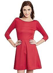 Nun Women's Dress (NUNDR6459_Red_X-Large)