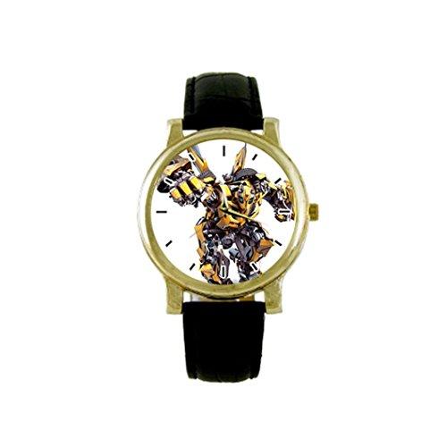 Bumblebee - Transformers Custom DIY Gold Case Strap Men's Watch