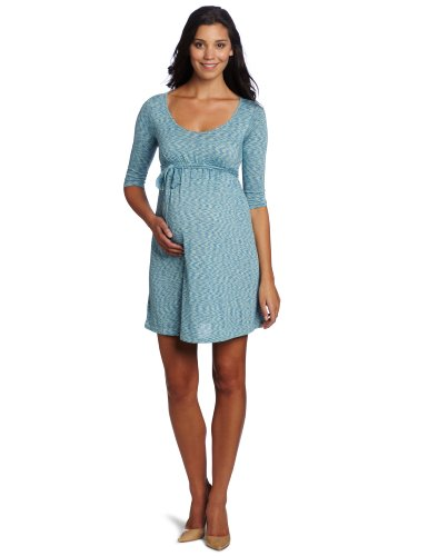 Three Seasons Maternity Women's Space Dye V-Neck Dress
