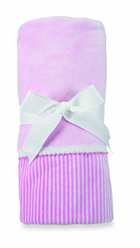 Mud Pie Velour Blanket, Pink