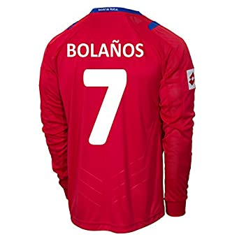 Buy Lotto BOLAÑOS #7 Costa Rica Home Jersey World Cup 2014 (Long Sleeve) by Lotto
