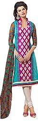 Tangerines Tfw Pink Color Unstitched Salwar Kameez Dress Material