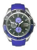 Marc Ecko Men's E12597G1 The Equation Multi-Function Purple Polyurethane Strap Watch