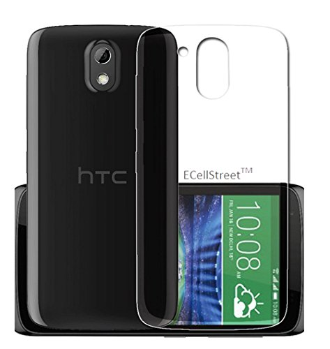 HTC Desire 526G+ Transparent TPU Crystal Clear Soft Back Case Cover Back Cover + Free Stylus