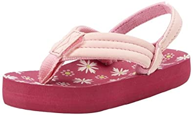 Reef Little Ahi Pink/pink/flowers Casual Sandal R2199PPF .  4/5 US, 3/4 UK