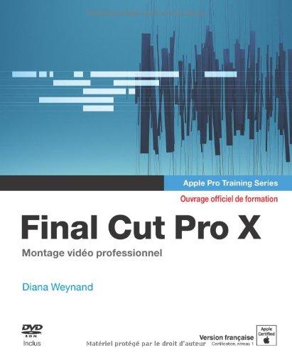 Final cut pro X apple pro training s