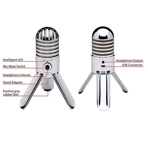 Samson Meteor Mic USB Studio Microphone (Chrome) - 2