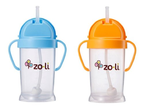 zoli baby bot xl straw sippy cup 9 oz 2 pack blue. Black Bedroom Furniture Sets. Home Design Ideas