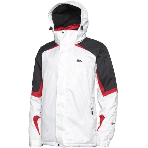 Trespass Mens Morzines Ski Jacket White/Black