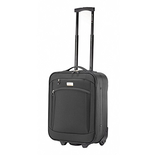 Ghepard valigia trolley piccolo, black, Box Soft, trolley 2 ruote in poliestere
