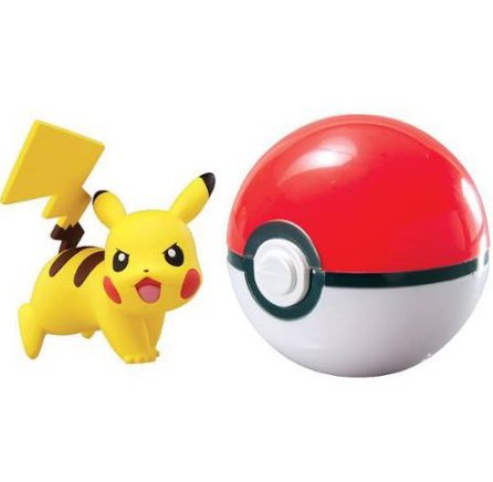 Pokemon Go Poké Ball with Pikachu Mini Figure Toy Anime Action Figure