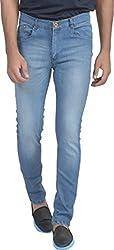 Ragged Men's Slim Fit Jeans (RASSABL057_Blue_28)