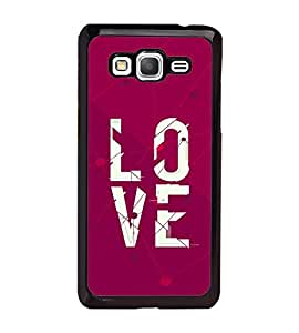 Fuson Premium Love All Metal Printed with Hard Plastic Back Case Cover for Samsung Galaxy Grand Prime G530H