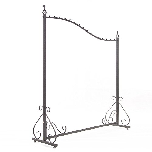 Free Standing Decorative Antique Grey Iron Garment Coat Rack (Y0021) 2