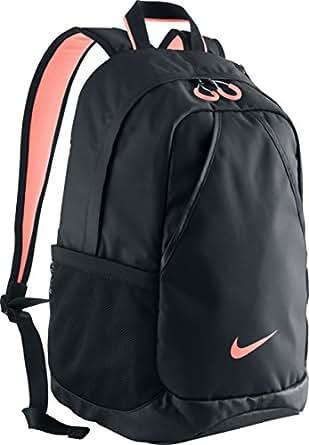 nike varsity backpack black black atomic pink. Black Bedroom Furniture Sets. Home Design Ideas