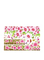 Ambience Live Vinilo Decorativo Hedge and flowers Multicolor