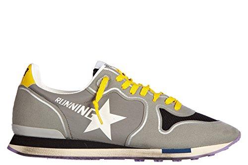 Golden-Goose-zapatos-zapatillas-de-deporte-hombres-en-piel-nuevo-running-gris