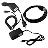 HTC T-Mobile Mytouch 4G Wall / AC / Home Charger + Car Charger + USB Cable