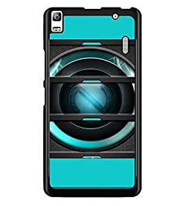PrintDhaba Speaker D-4056 Back Case Cover for LENOVO A7000 (Multi-Coloured)