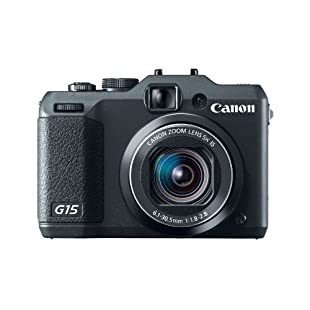 Canon PowerShot G15 12.1MP Digital Camera with 5x IS Zoom