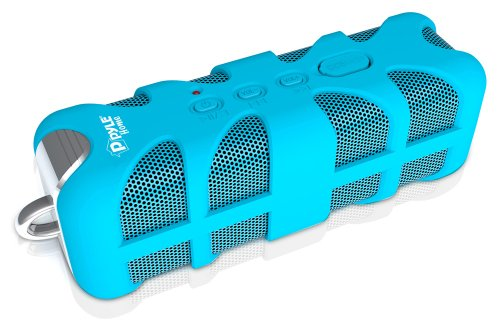 Pyle Pwpbt60Bl Sound Box Splash Bluetooth Rugged And Splash-Proof Marine Grade Portable Wireless Speaker (Blue)