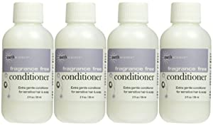 Earth Science Conditioner for Sensitive Hair & Scalp, Fragrance Free, Travel Size, 4 pk