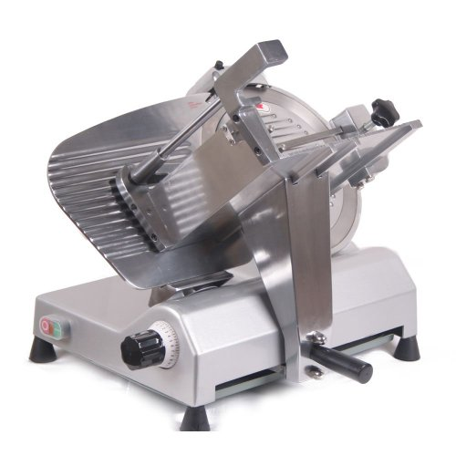 "Generic Vegetable Meat Slicer 12"" Blade Semi Automatic Durable 270W New Style Electric Food Slicer Deli Meat Cutter front-574845"