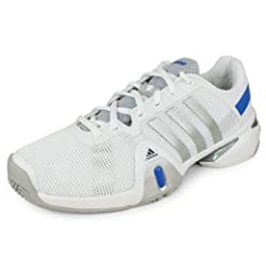 Buy Adidas Mens Adipower Barricade 8 Tennis Shoe-Running White Metallic Silver Blue Beauty-7.5 by adidas