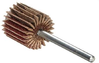 Merit Micro Mini Grind-O-Flex Abrasive Flap Wheel, Round Shank, Aluminum Oxide