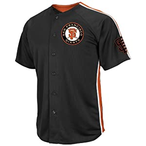 MLB San Francisco Giants Mens B Posey 28 Crosstown Rivalry Jersey, Black Orange White by VF LSG