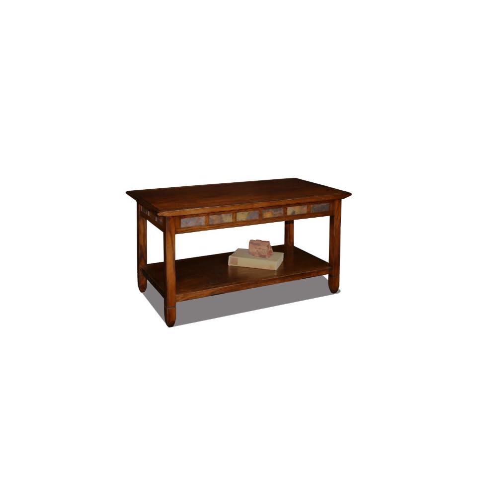leick furniture favorite finds rustic slate coffee table set in rustic oak on popscreen. Black Bedroom Furniture Sets. Home Design Ideas