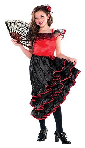 Costumes USA, Spanish Dancer Child Costume (Large) (Flamenco Dance Costumes For Girls)