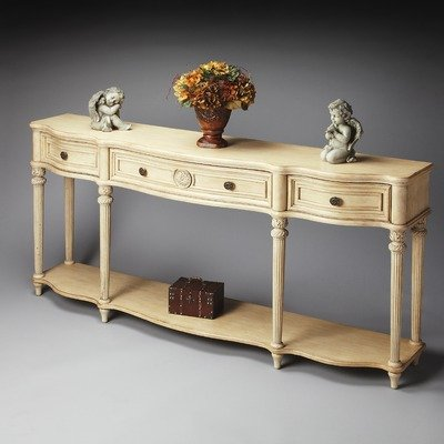Cheap Masterpiece Console Table in Distressed Paraffin (B0051BYR9S)