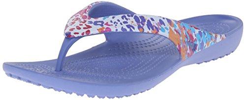 crocs Women's Kadee II Floral W Flip Flop, Lapis, 10 M US