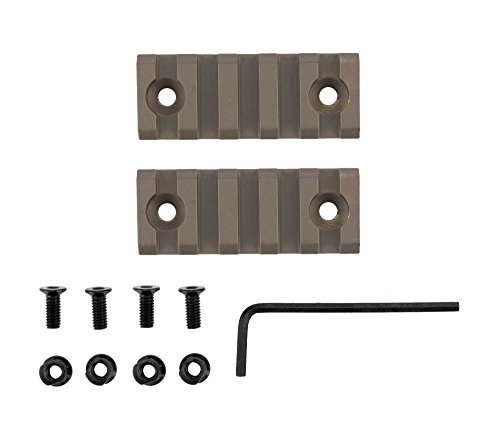 Monstrum Tactical Short Length (5 Slot/2.2 inch) Picatinny Rail for Keymod Systems (Flat Dark Earth x 2) (Dark Earth Quad Rail compare prices)