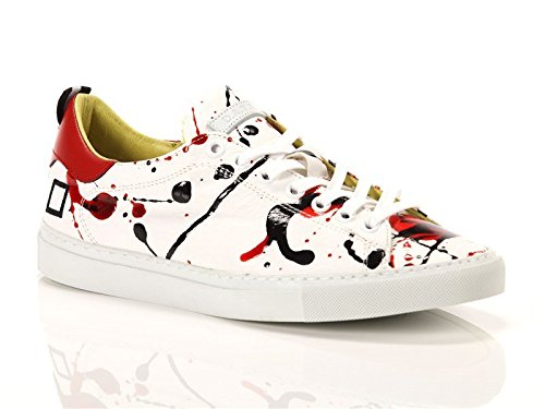 Date, Donna, Ace Pollock Red, Pelle, Sneakers, Bianco, 38 EU