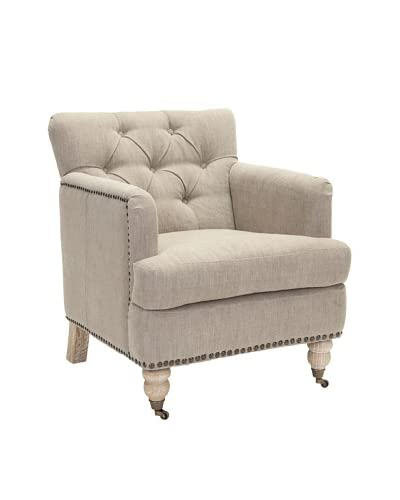 Safavieh Colin Tufted Club Chair, Taupe
