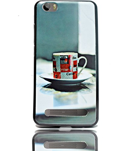 ECellStreet Sparkle Printed Back Case Cover Back Cover For Micromax Canvas Juice 4G Q461 - Cup