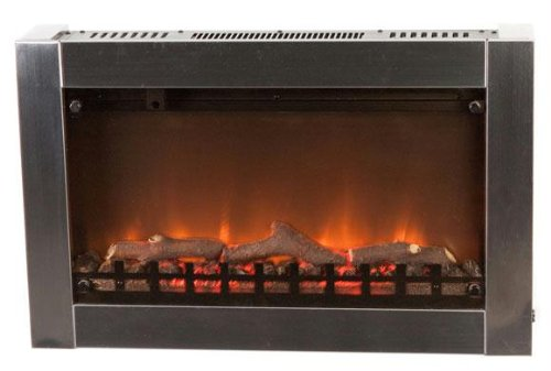 Exclusive By Fire Sense Fire Sense Stainless Steel Wall Mounted Electric Fireplace