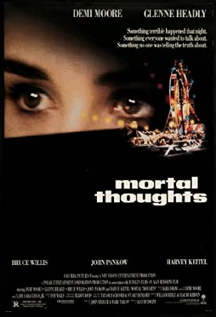 mortal thoughts 1991 original movie poster mystery