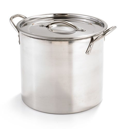 KITCHENWORKS STOCKPOT Stainless Steel 6 quart Roll edge with lid