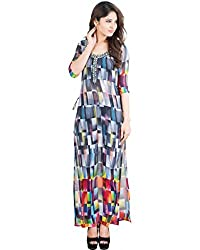 Bayside Clothing Women's Bodycon Kurti (AKU0012_Multicolor_M)