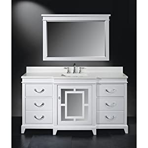 Luxe Wallingford 66 Inch Single Bathroom Vanity High Gloss White