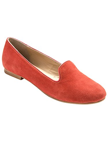 Balsamik - Mocassini slippers in pelle scamosciata larghezza comfort - - Size : 41 - Colour : Corallo