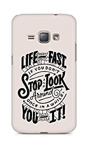 AMEZ life moves pretty fast Back Cover For Samsung Galaxy J1 (2016 EDITION)